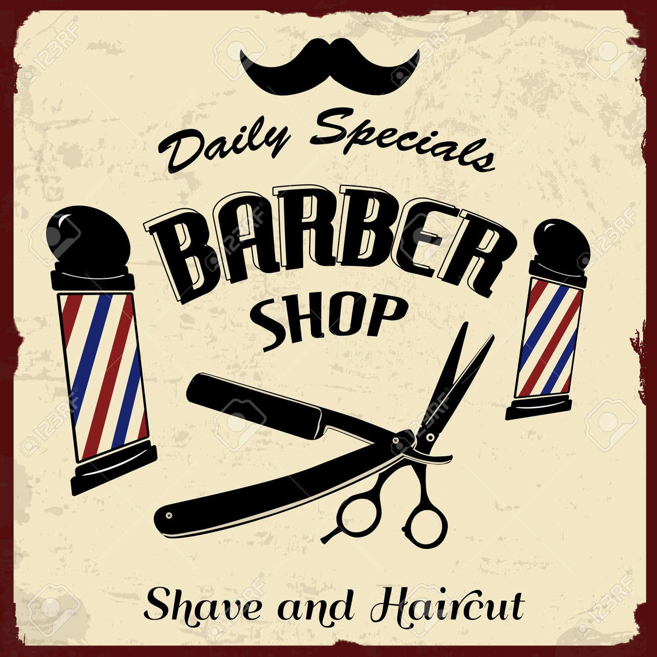 Vintage barber shop chairs - Vintage Barber Shop Vintage Styled Barber Shop Background Vector Illustration