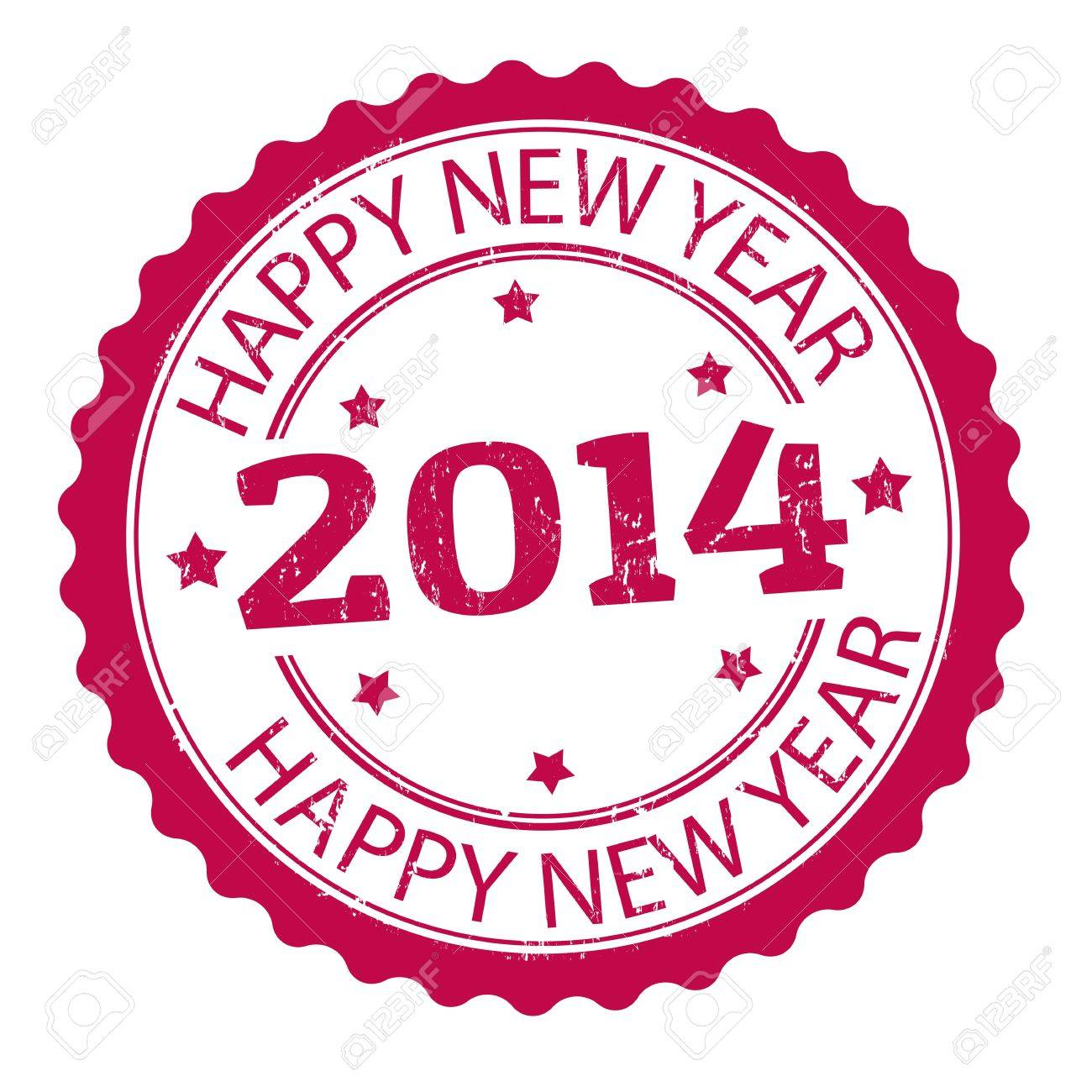 Happy new year 2014 grunge rubber stamp, vector illustration Stock Vector - 21313885