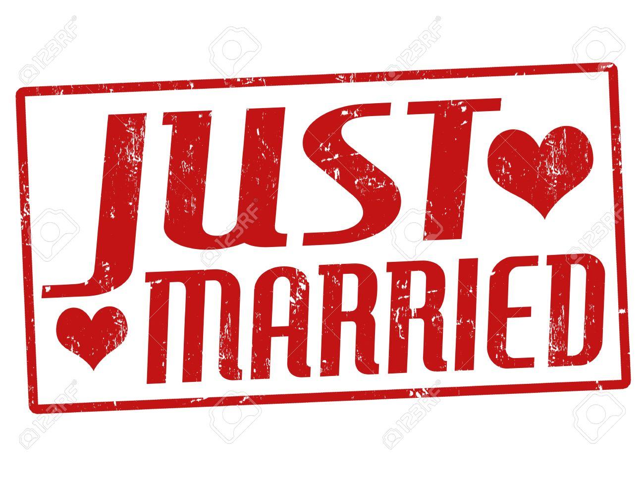 Just married grunge rubber stamp, vector illustration - 21313949