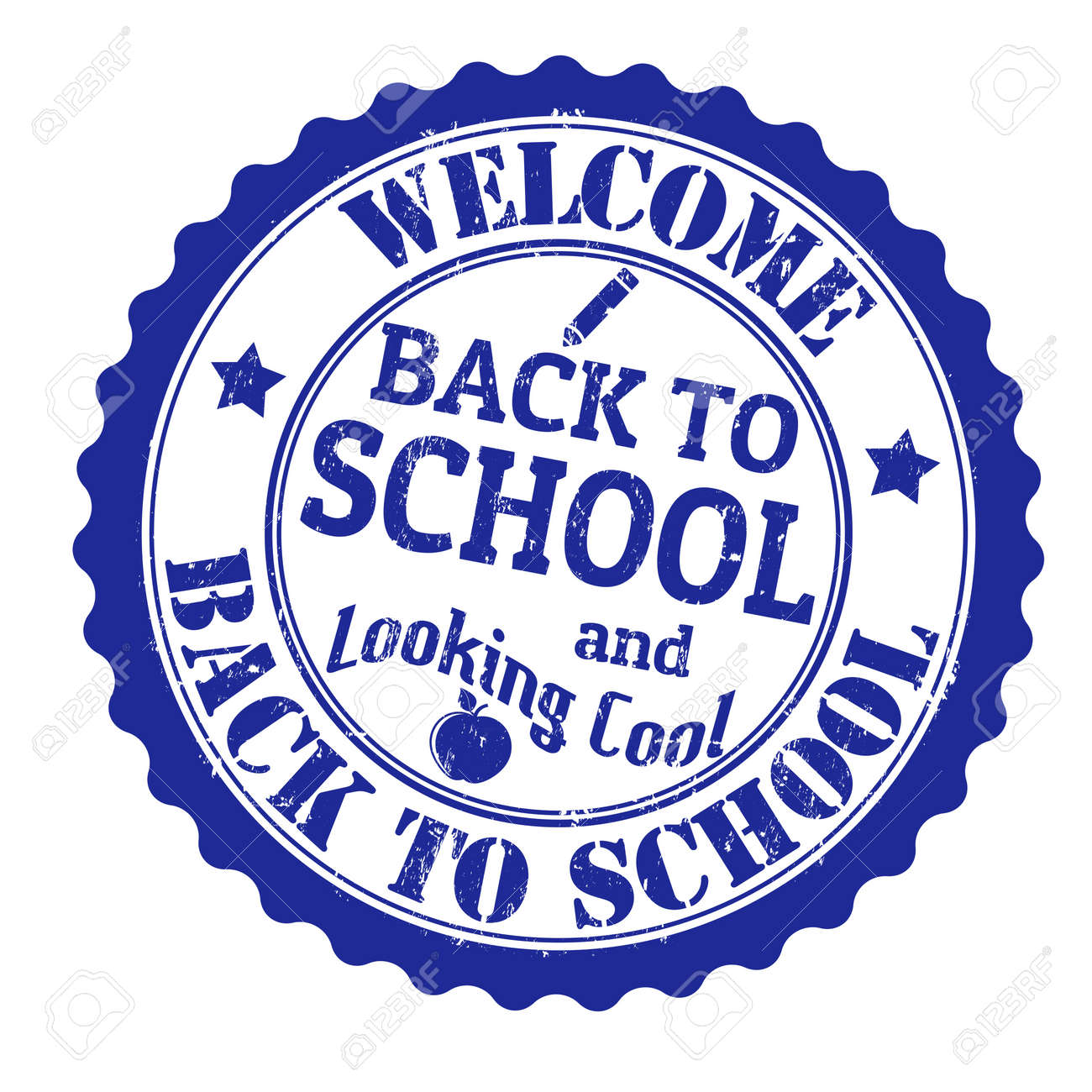 Back to school grunge rubber stamp on white background, vector illustration Stock Vector - 21313950