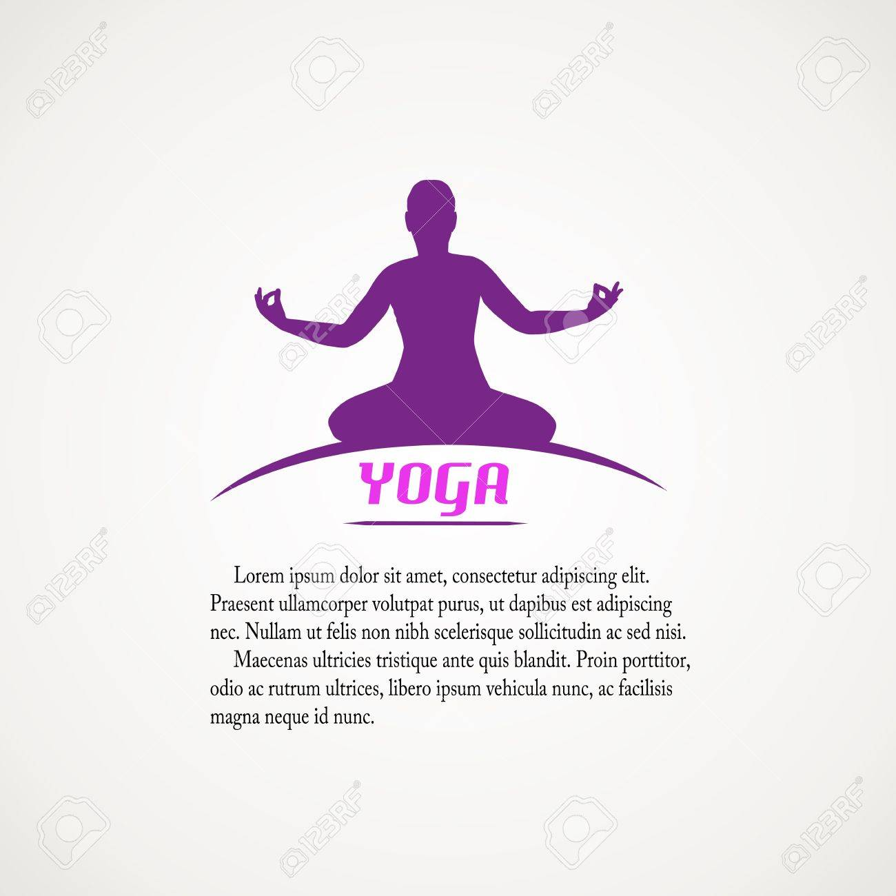 Yoga label with place for your text, vector illustration Stock Vector - 21635590