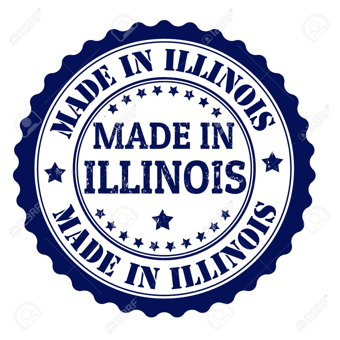 Made in Illinois grunge rubber stamp, vector illustration Stock Vector - 21854275