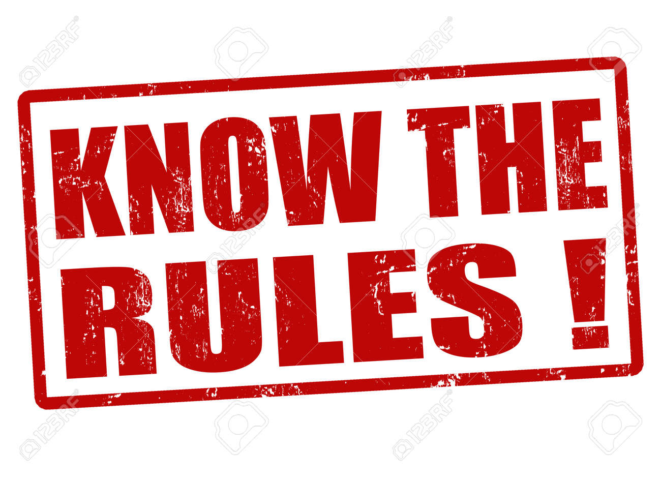 Know the rules red grunge rubber stamp, vector illustration - 22068882