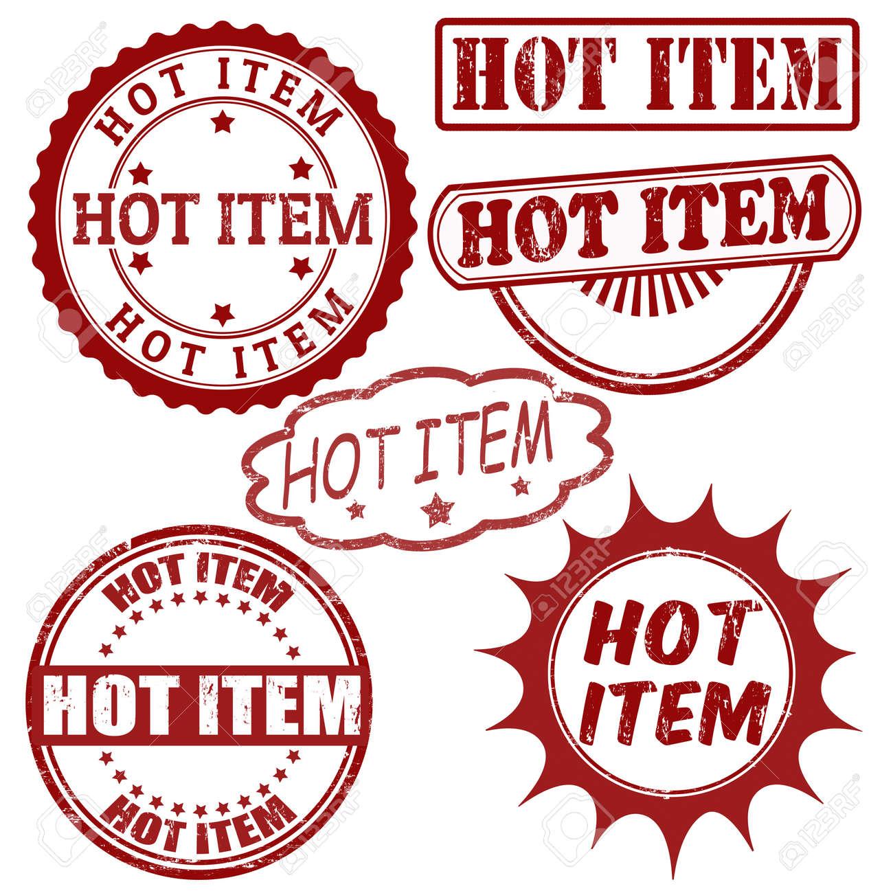 Set of Hot Item grunge rubber stamps, vector illustration Stock Vector - 22068918