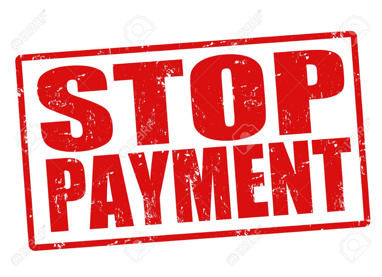 Stop payment grunge rubber stamp on white Stock Vector - 22371412