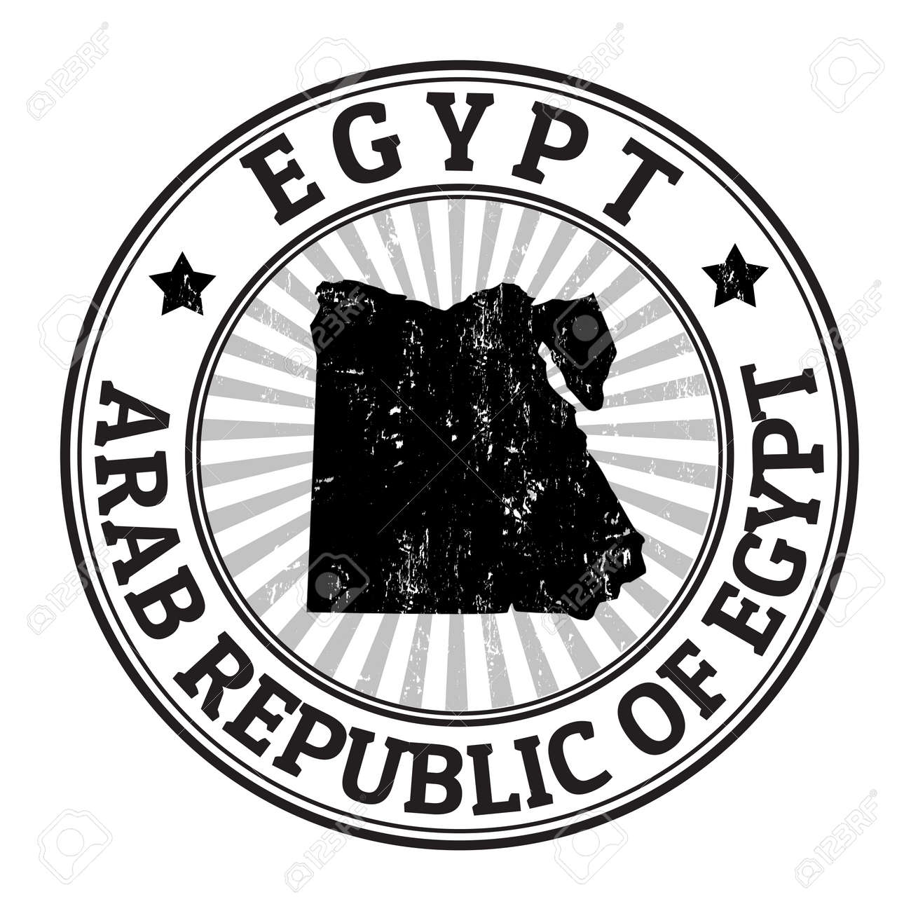 Grunge Rubber Stamp With The Name And Map Of Egypt Vector - Map of egypt vector free
