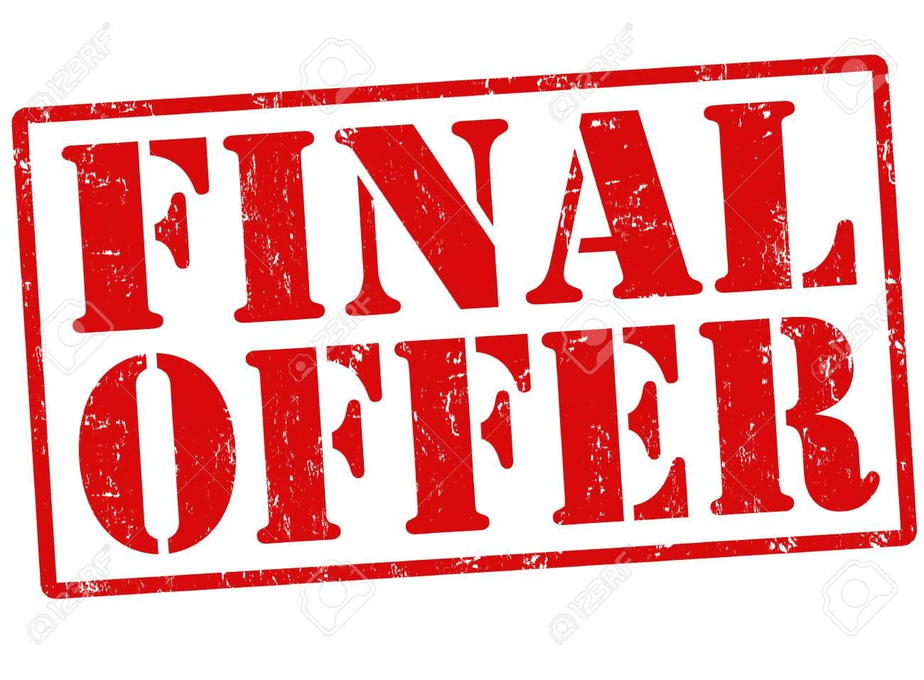 Final offer grunge rubber stamp on white, vector illustration Stock Vector - 22591061