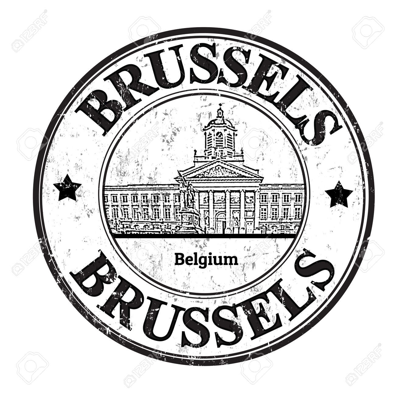 Grunge rubber stamp with the word Brussels, Belgium inside, vector illustration Stock Vector - 22766064