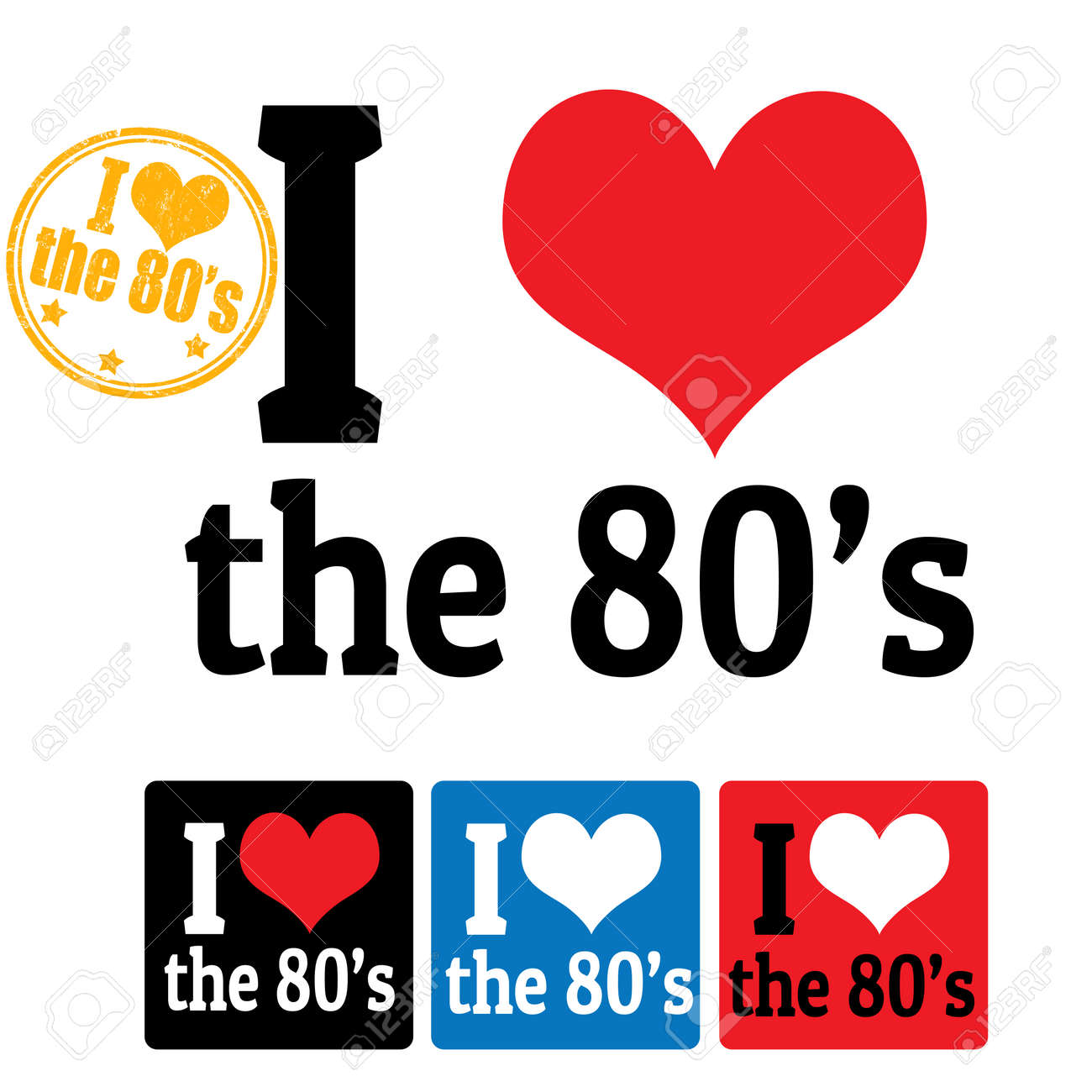 I Love 80s Background I love the 80 s sign and