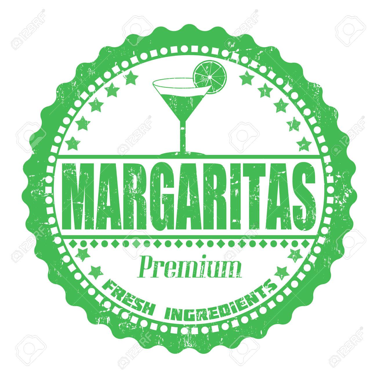 Margaritas grunge rubber stamp on white, vector illustration Stock Vector - 22873187