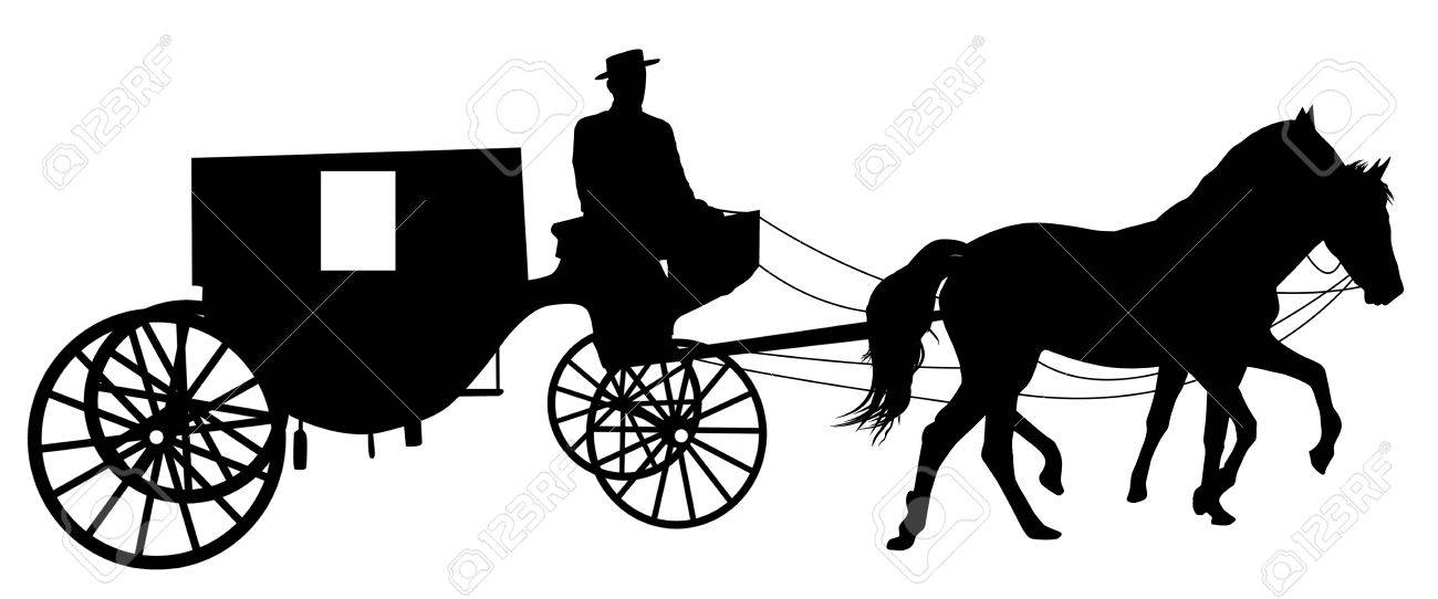Horse Carriage Silhouette Silhouette of a Horse Put to a