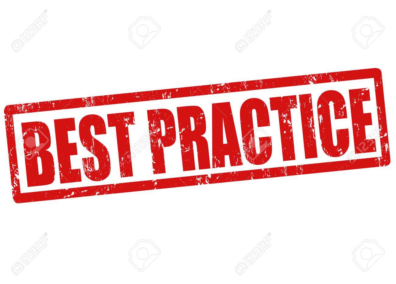 Best practice grunge rubber stamp on white, vector illustration Stock Vector - 23974619