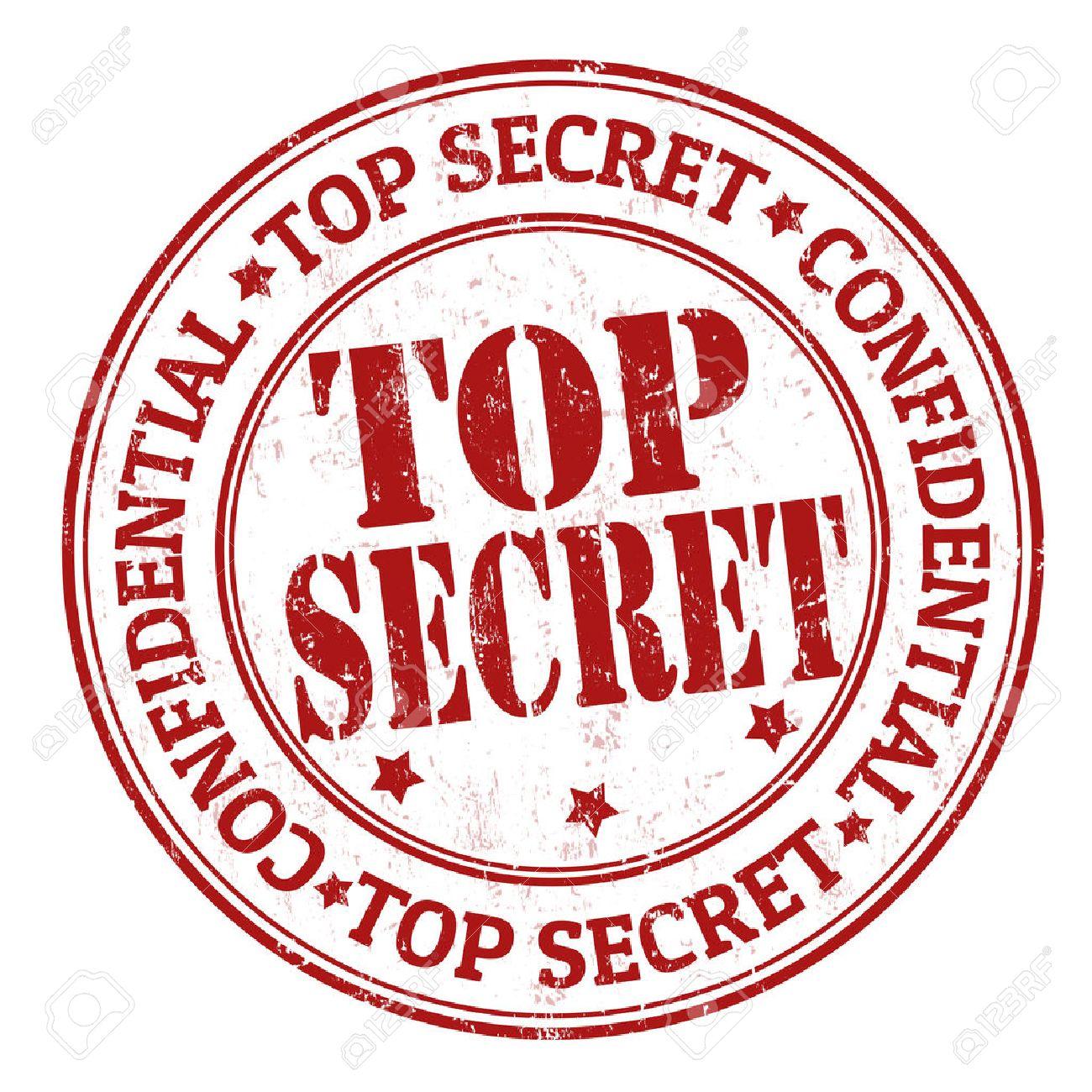 Top secret grunge rubber stamp on white, vector illustration Stock Vector - 23975592