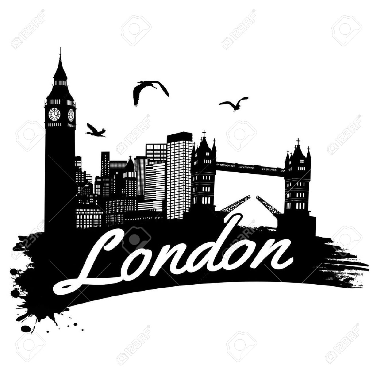 London in vitage style poster, vector illustration Stock Vector - 24005070