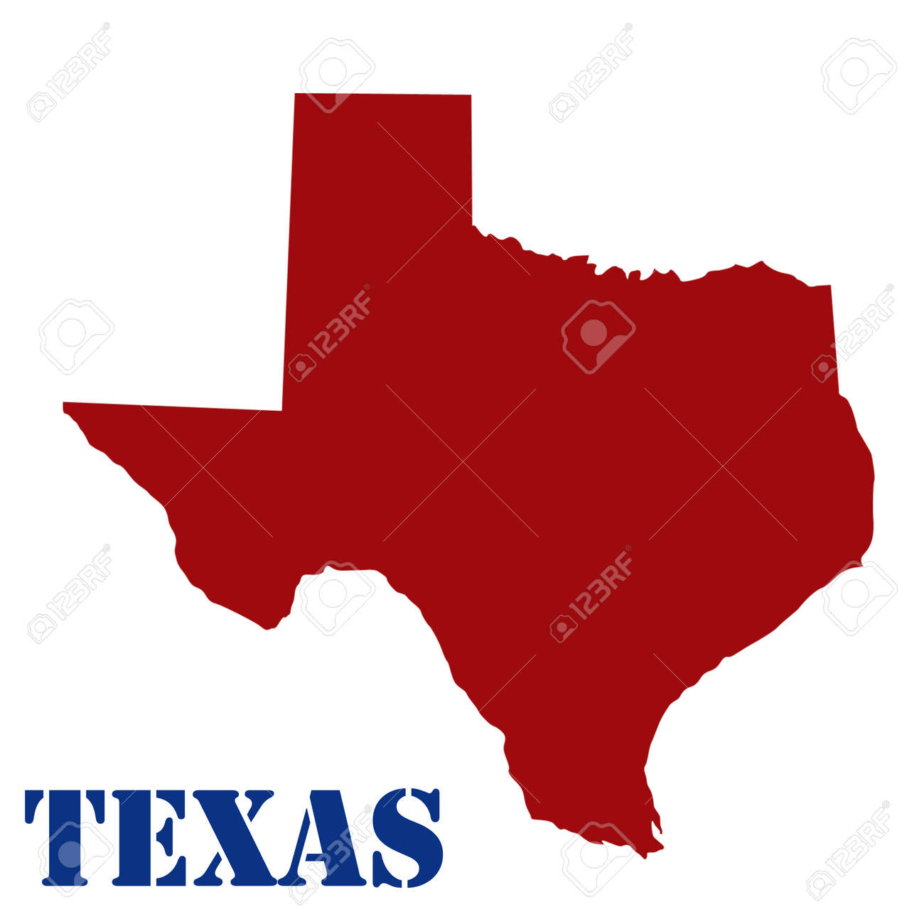 Map Of Texas On White Background Vector Illustration Royalty Free