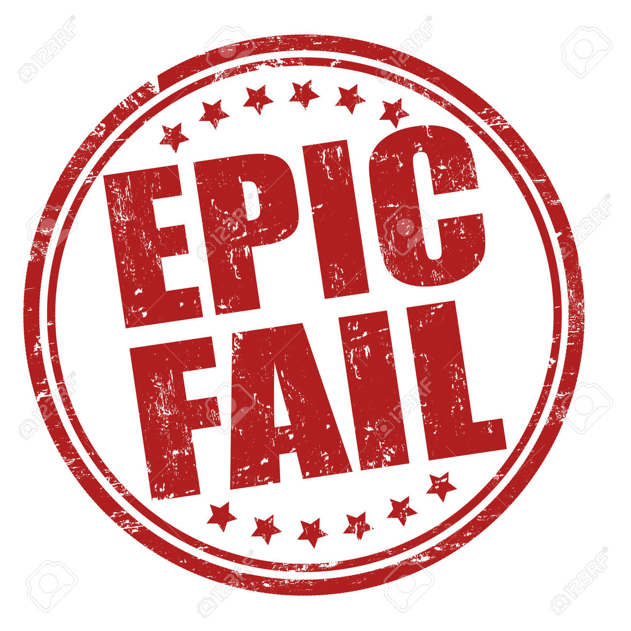 Epic fail grunge rubber stamp on white Stock Vector - 24960273