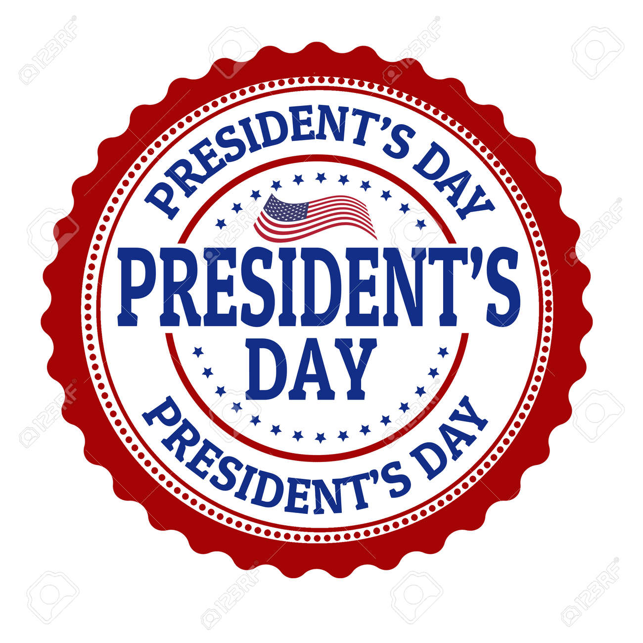 presidents day stamp royalty free cliparts vectors and stock