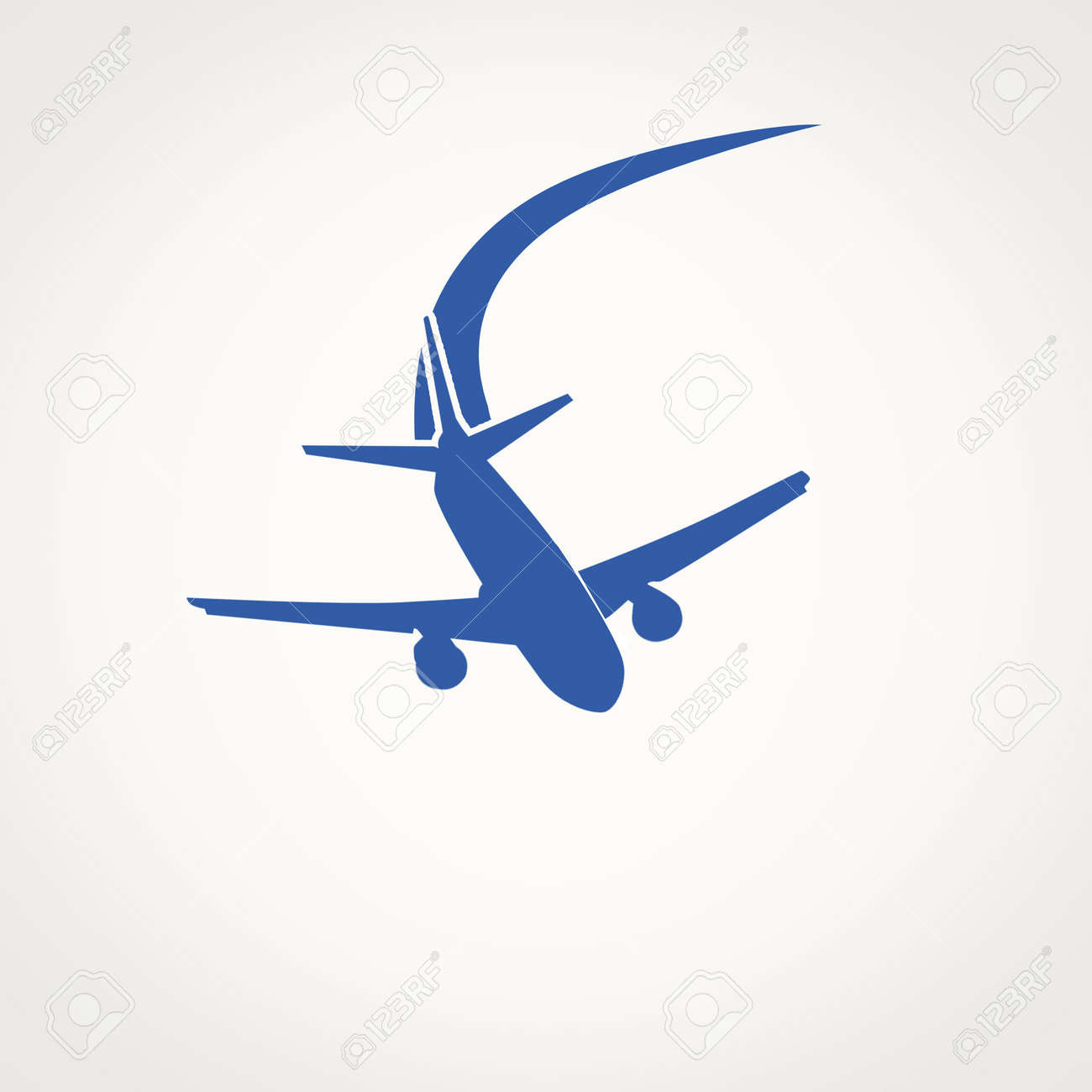 Airplane Symbol And Space For Your Text Vector Illustration Royalty