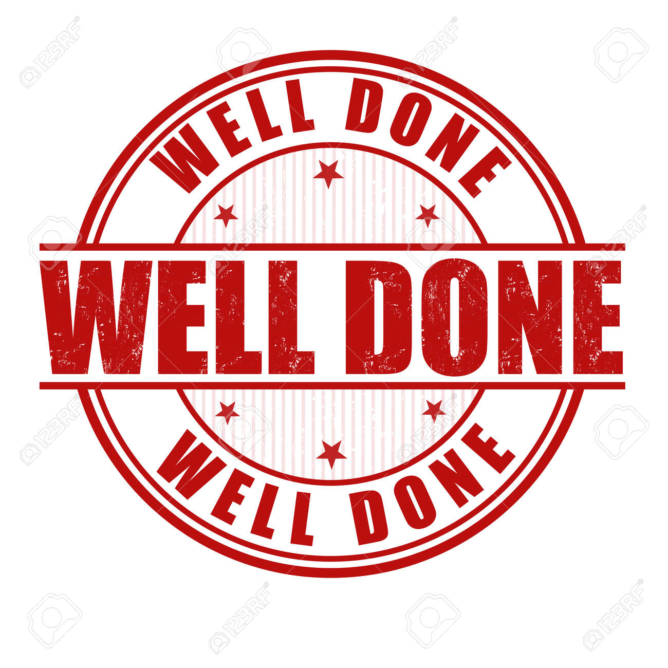 Well Done Grunge Rubber Stamp On White Royalty Free Cliparts ...