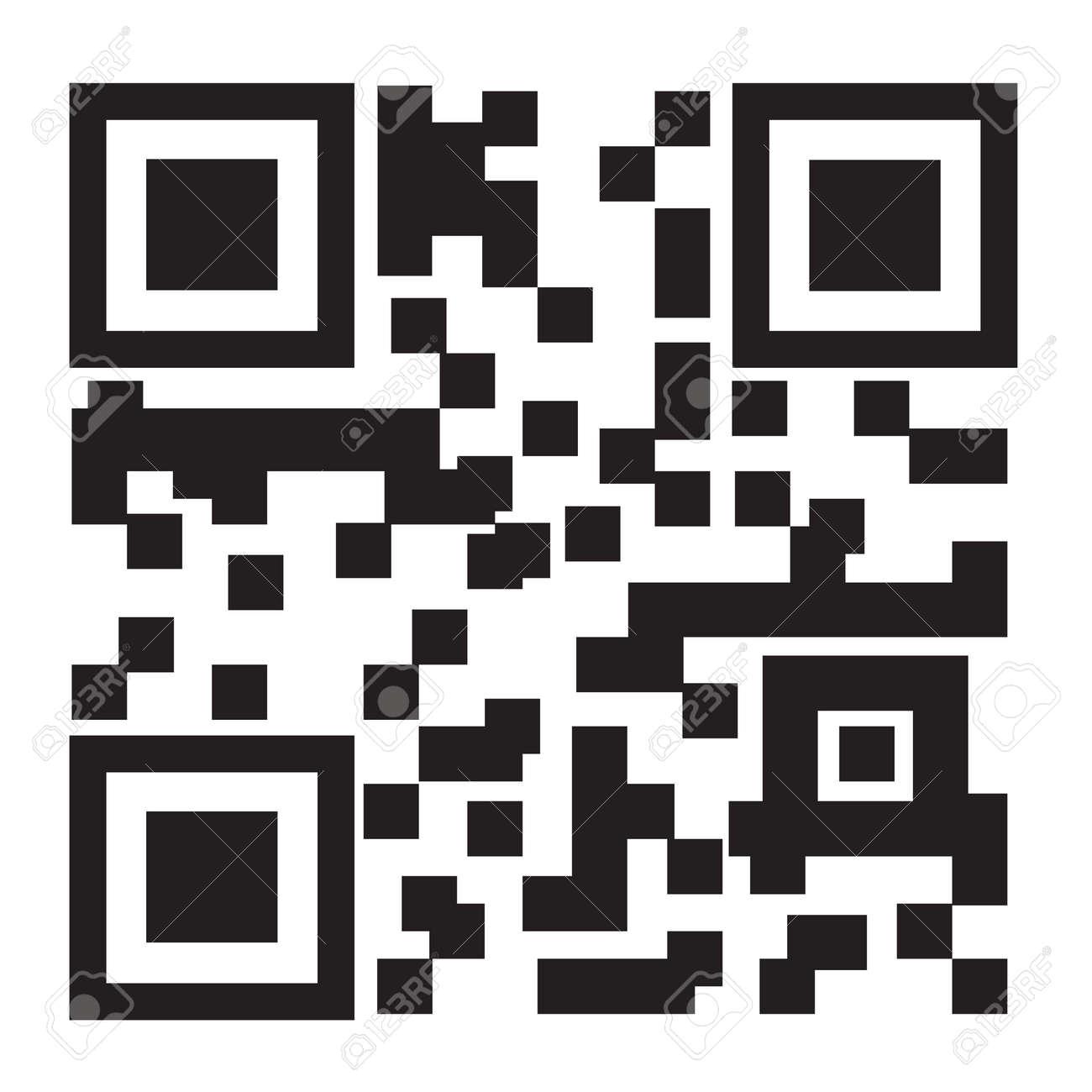 白の背景 ベクトル イラストに 2次元バーコードのイラスト素材 ベクタ Image