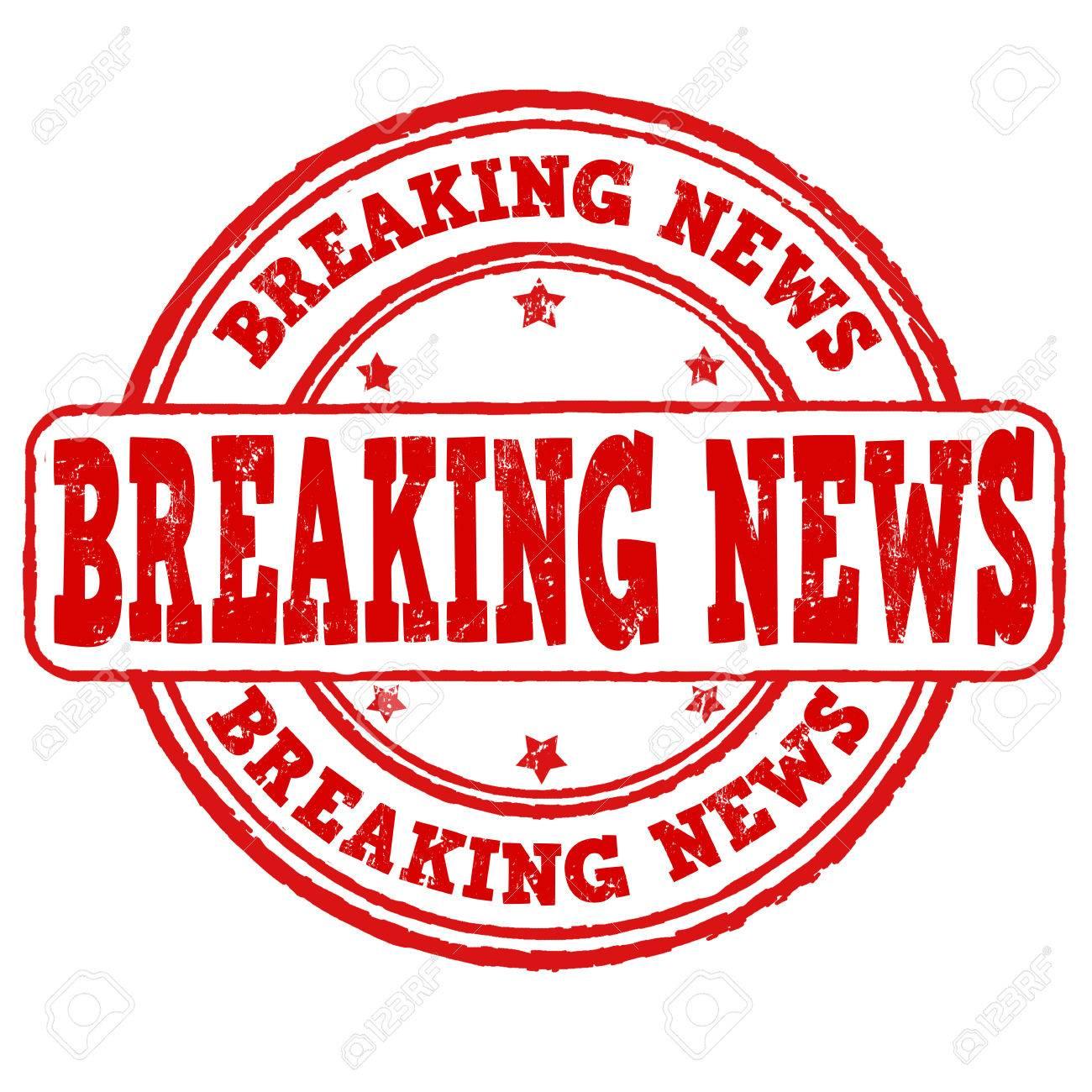 Breaking News Grunge Rubber Stamp On White Vector Illustration Stock