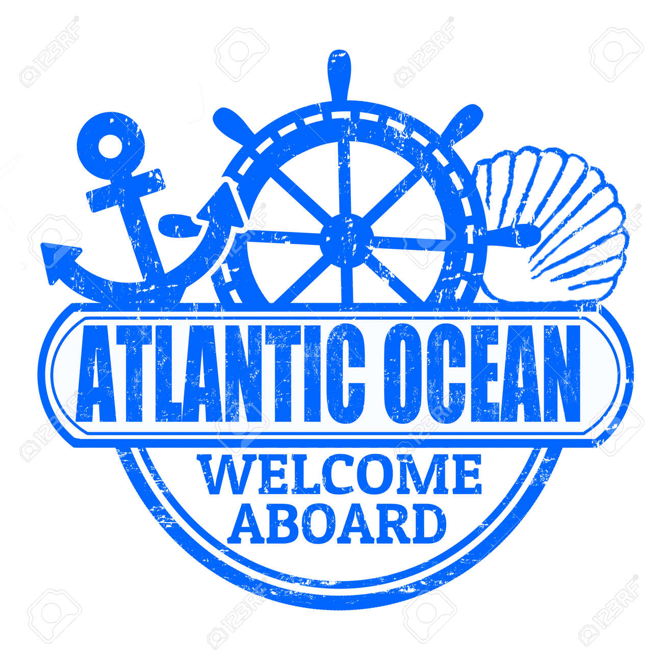 Grunge rubber stamp with the text atlantic ocean welcome aboard grunge rubber stamp with the text atlantic ocean welcome aboard written inside vector illustration buycottarizona Gallery