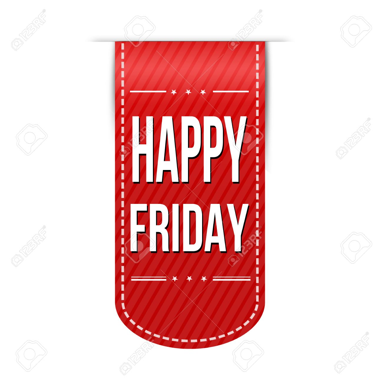 Happy Friday Banner Design Over A White Background Vector