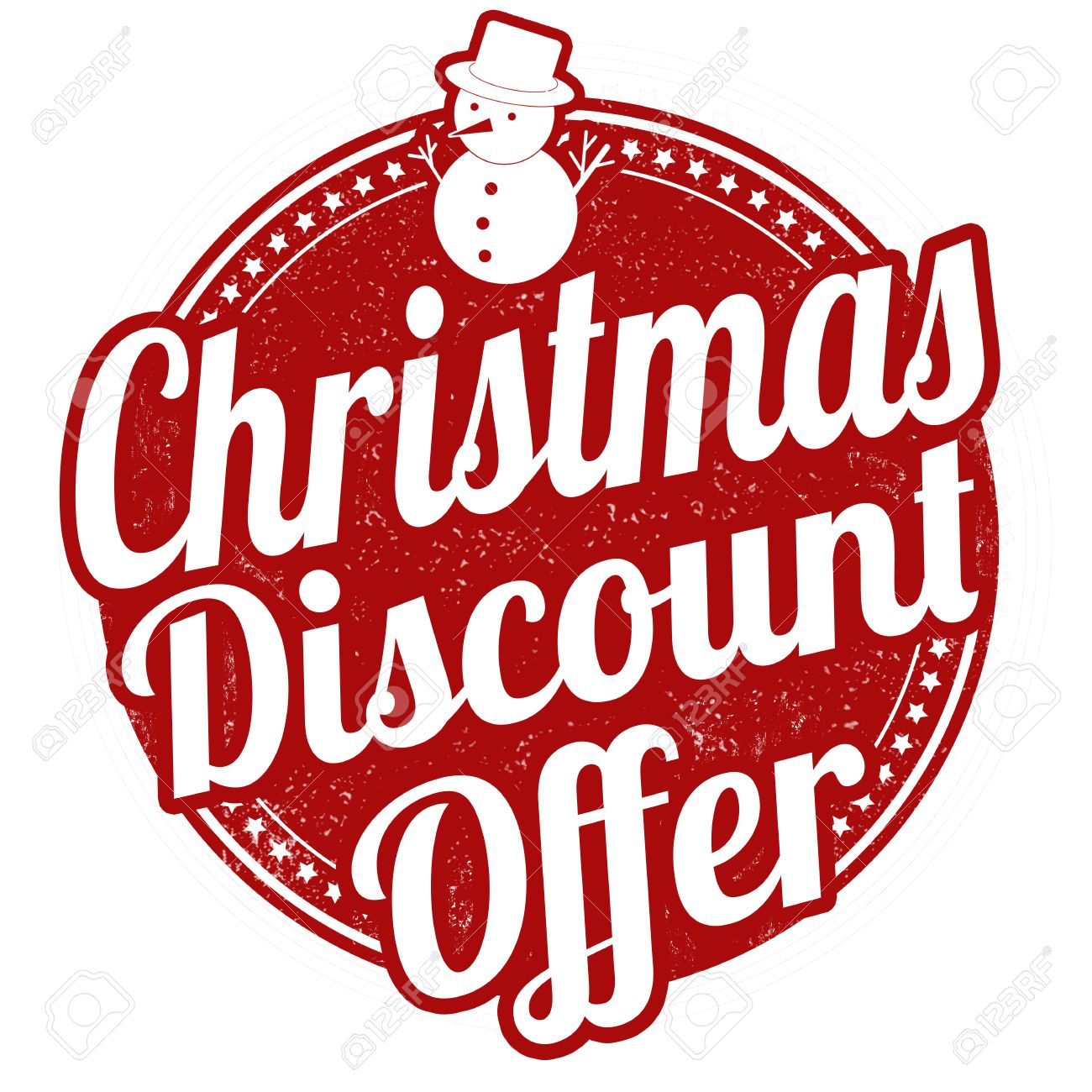 christmas discount offer grunge rubber stamp on white background