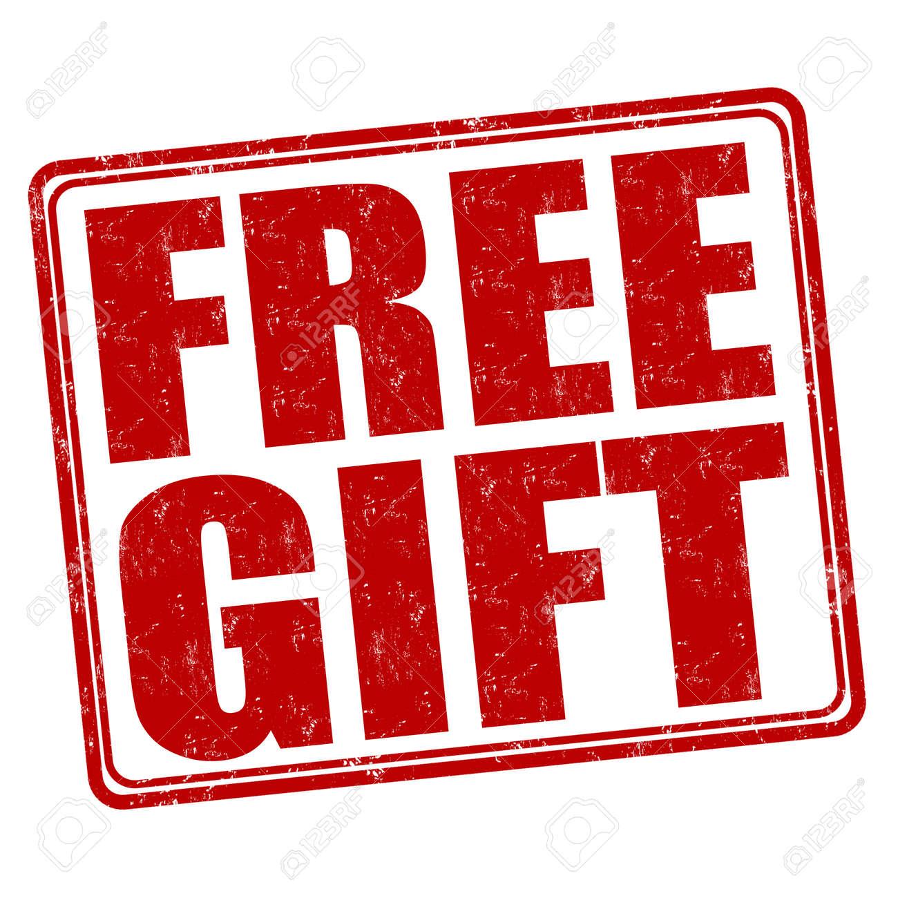 Free Gift Grunge Rubber Stamp On White Background Vector Illustration