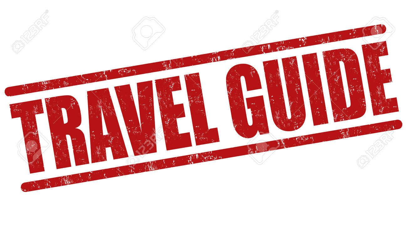 Travel Guide Grunge Rubber Stamp On White Background Vector Illustration Stock