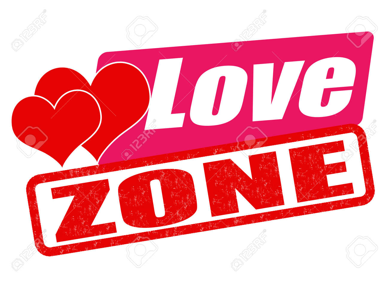 Love Zone Grunge Rubber Stamp On White, Vector Illustration Royalty Free  Cliparts, Vectors, And Stock Illustration. Image 36355151.