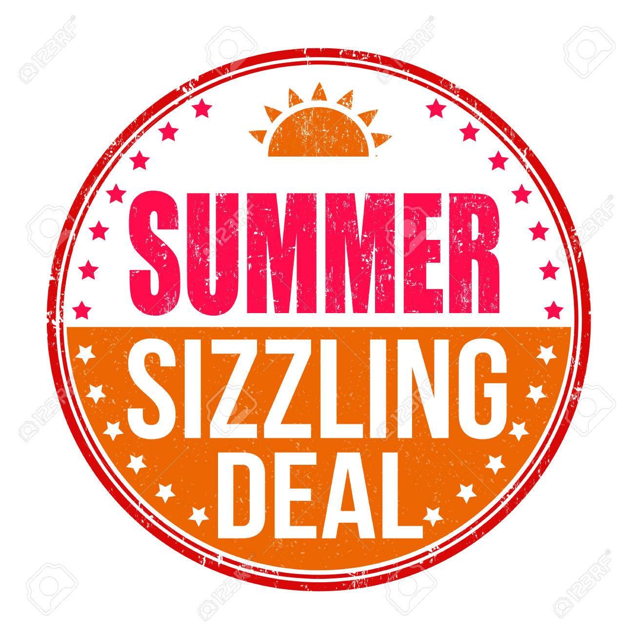 Sizzling summer deal grunge rubber stamp on white background, vector illustration - 39732699