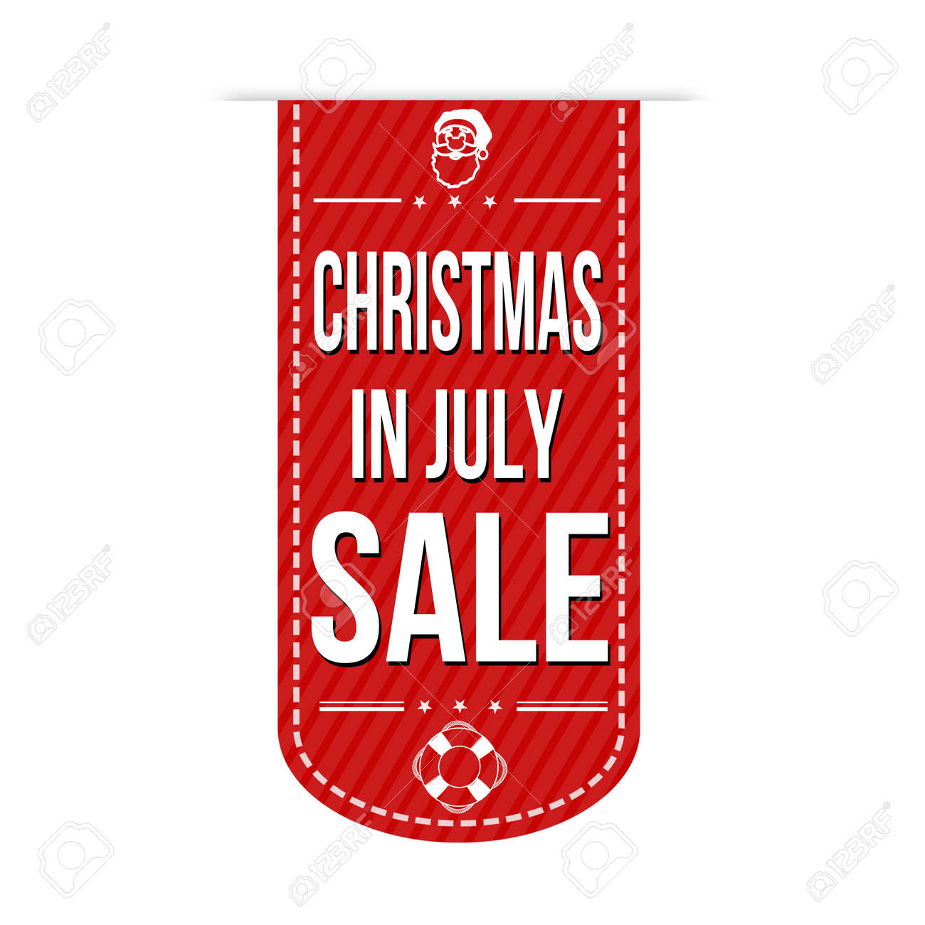 Christmas In July Clipart Free.Christmas In July Sale Banner Design Over A White Background
