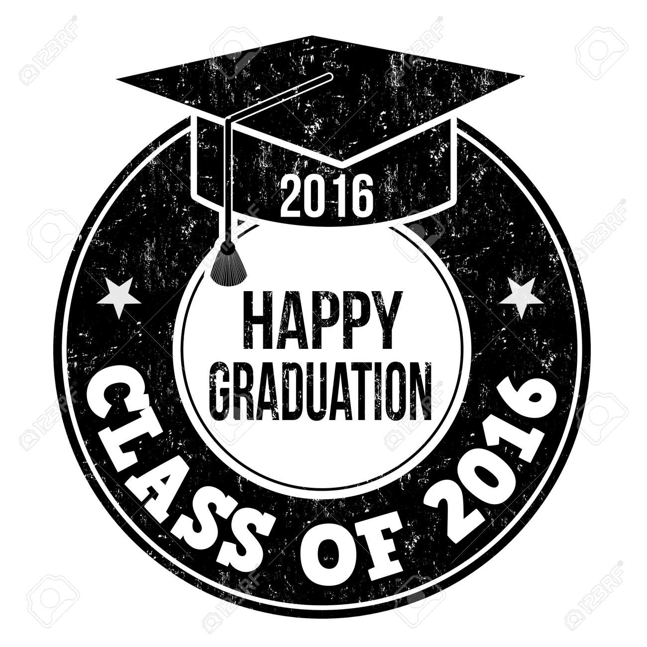 Class of 2016 grunge rubber stamp on white - 42653254
