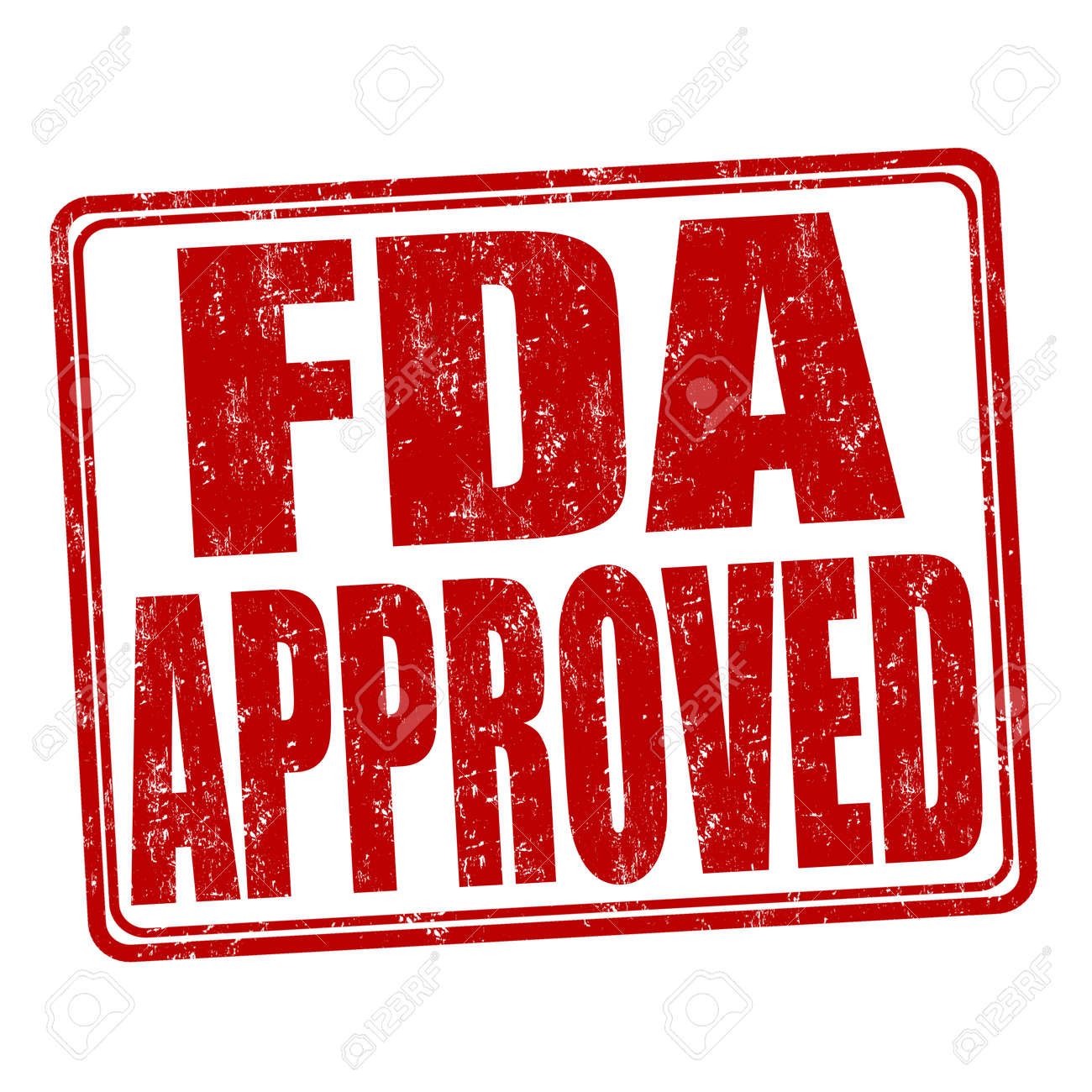 FDA approved grunge rubber stamp on white background, vector illustration - 46476646