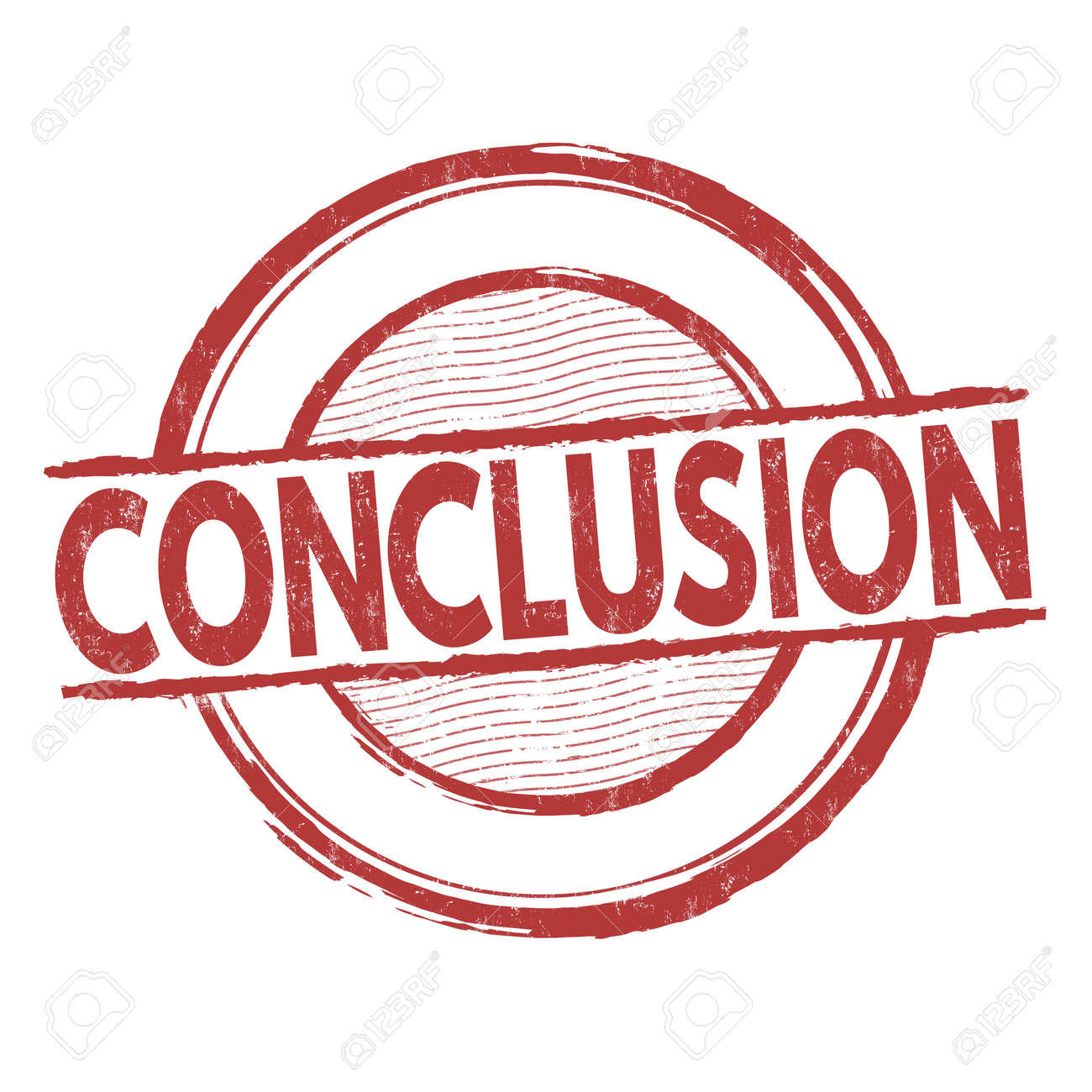 conclusion grunge rubber stamp on white background vector