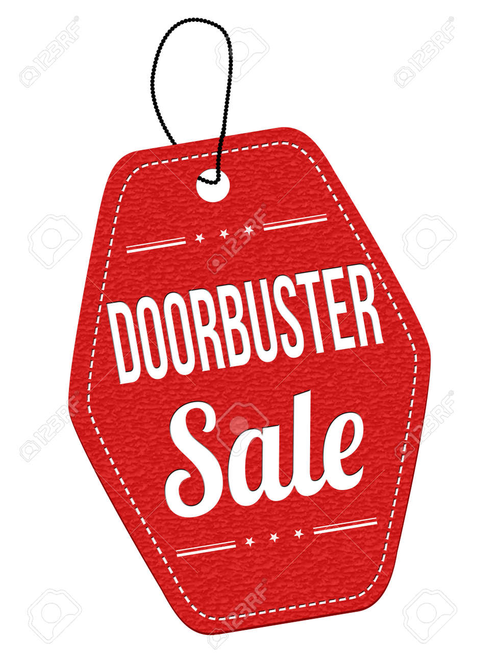 Door buster sale red leather label or price tag on white background Stock Vector - 49703476  sc 1 st  123RF.com & Door Buster Sale Red Leather Label Or Price Tag On White Background ...