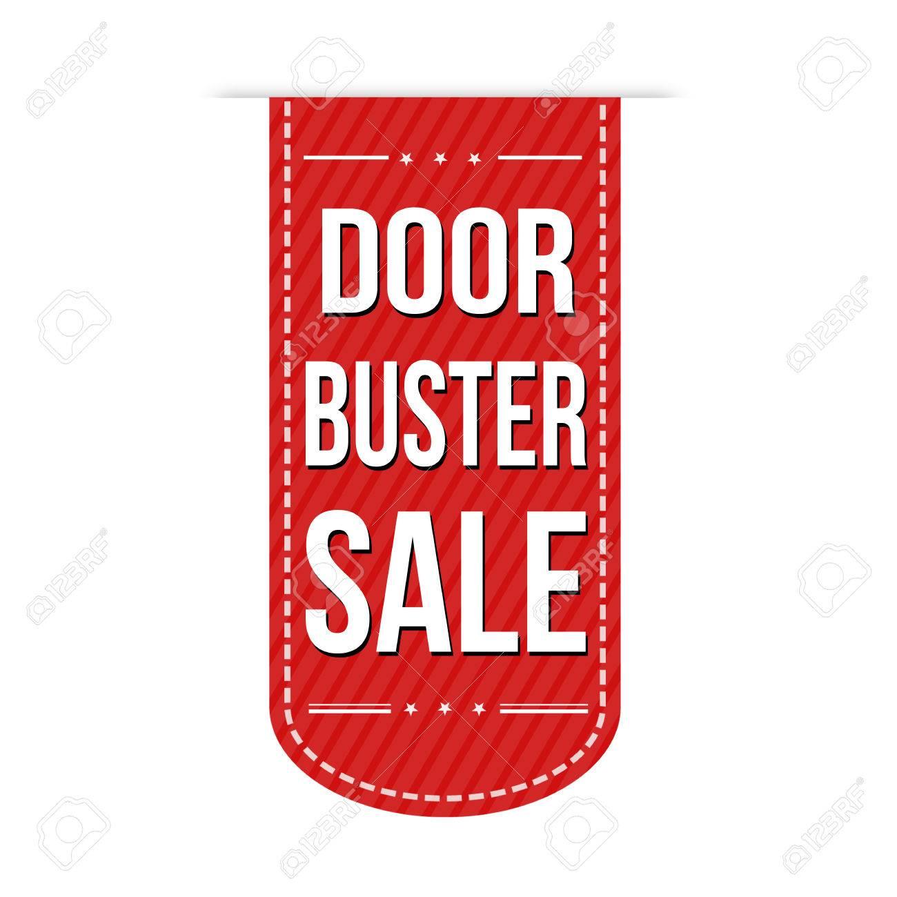 Door buster sale banner design over a white background Stock Vector - 49703503  sc 1 st  123RF.com & Door Buster Sale Banner Design Over A White Background Royalty Free ...