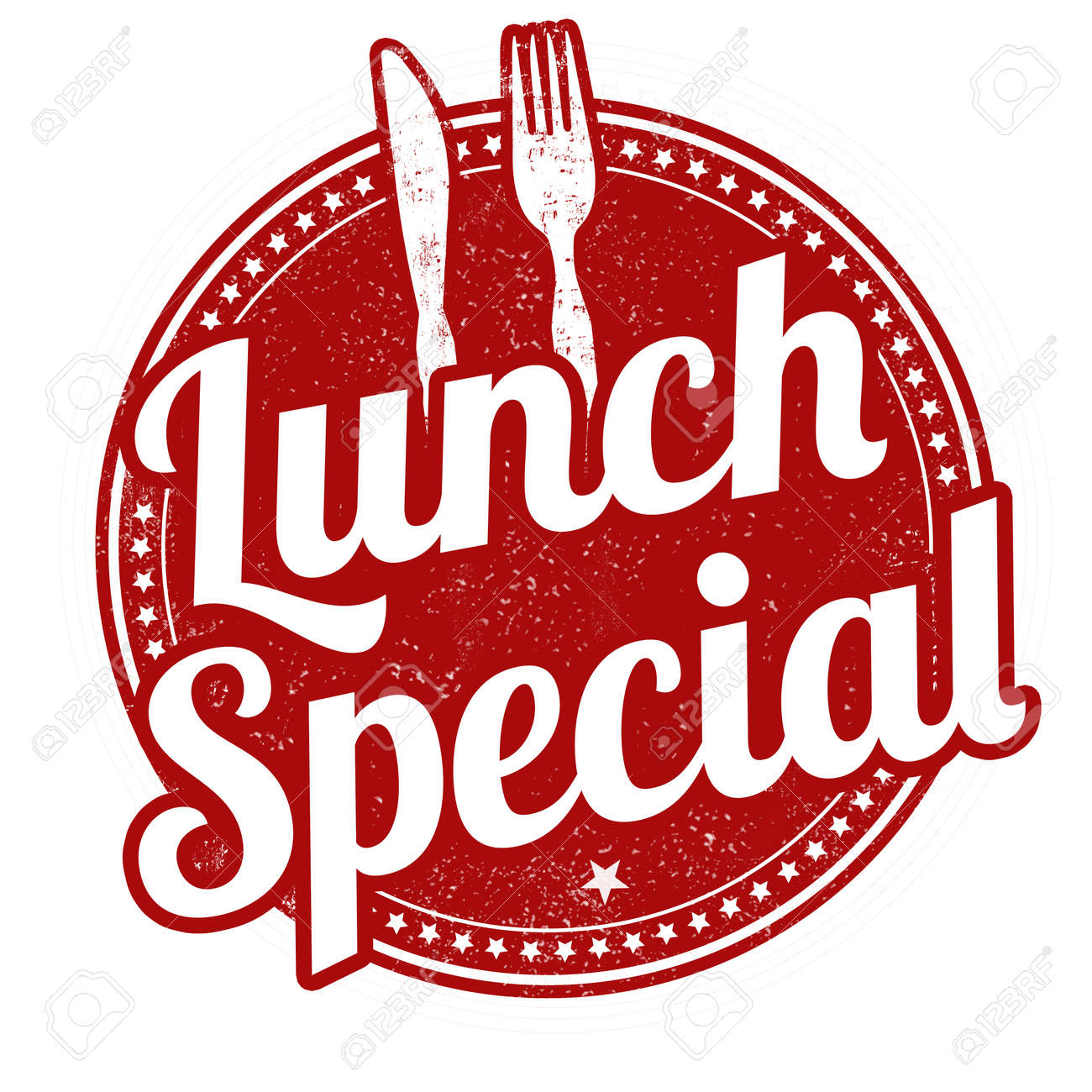 Lunch special grunge rubber stamp on white background, illustration - 53976075