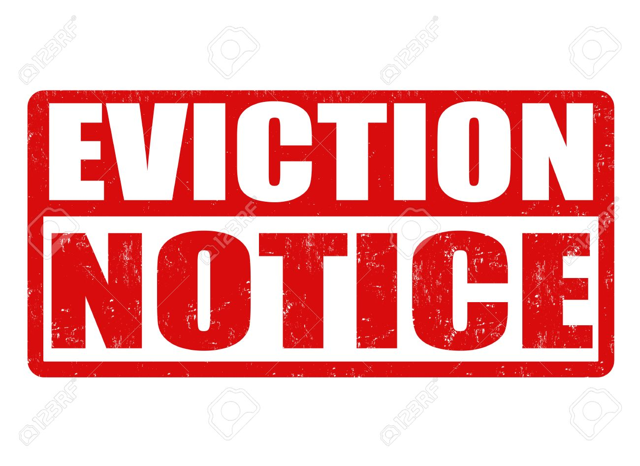 Eviction Notice Grunge Rubber Stamp On White Background, Vector ...