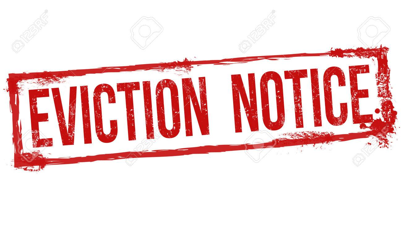 Eviction Notice Grunge Rubber Stamp On White Background Vector – Eviction Notice