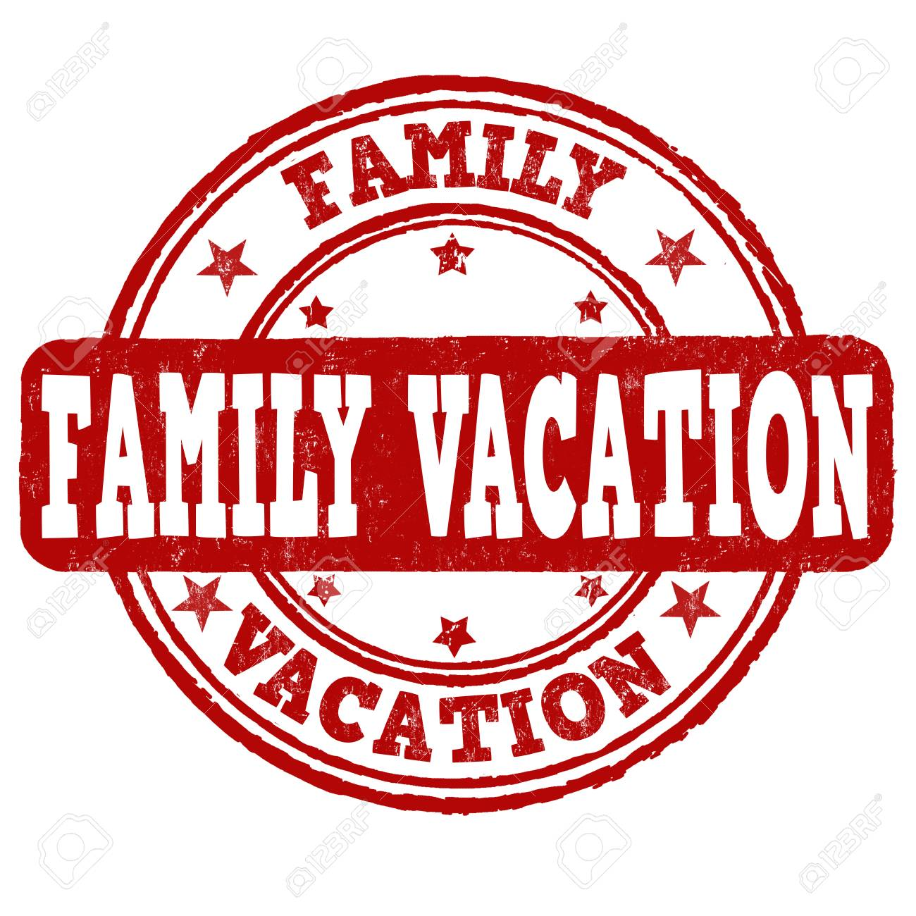 family vacation grunge rubber stamp on white background vector