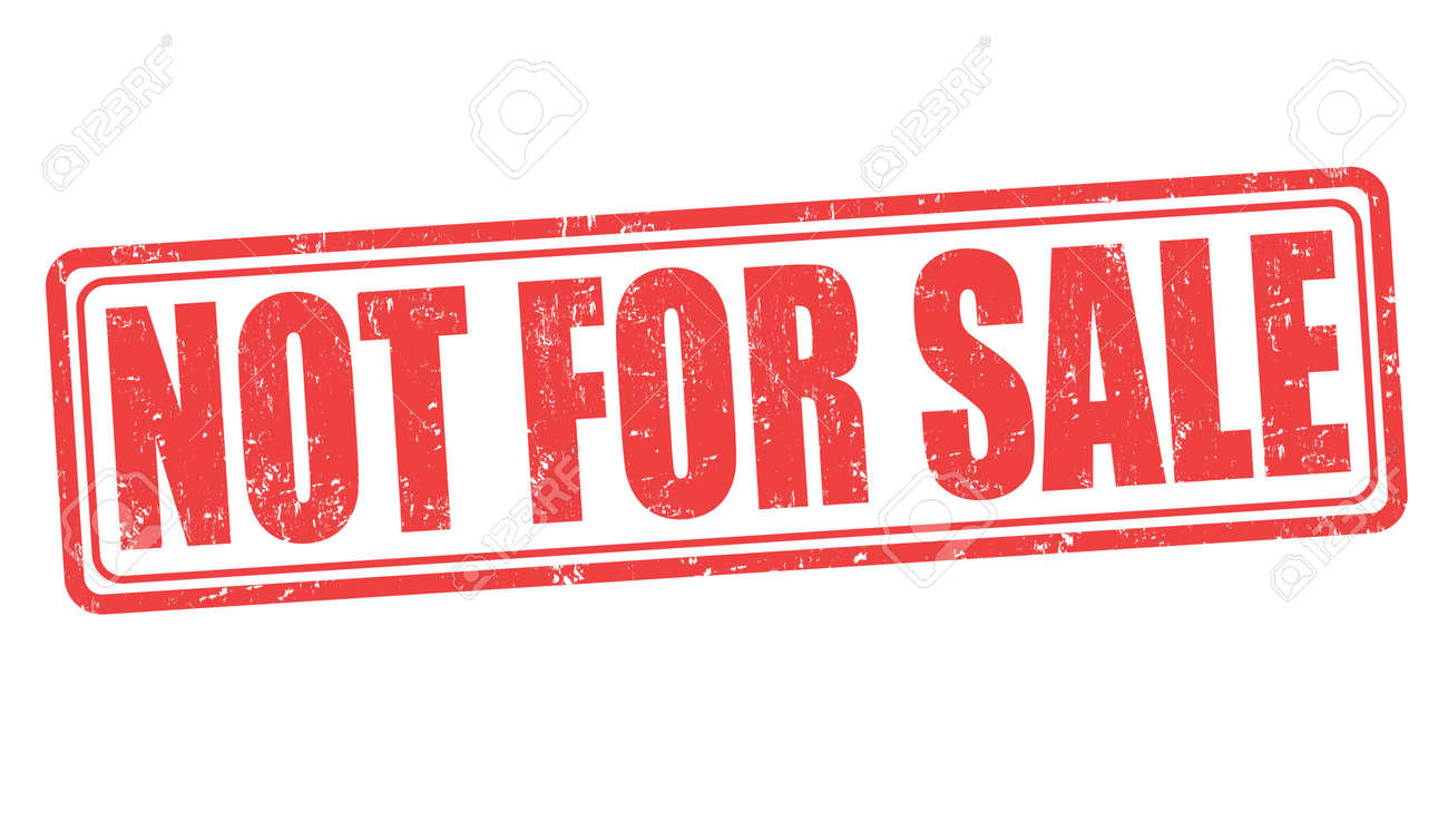 Not For Sale >> Not For Sale Grunge Rubber Stamp On White Background Vector