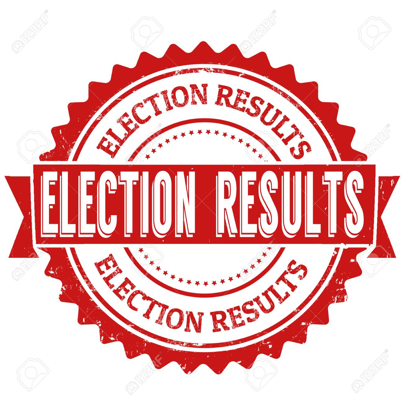 Election results grunge rubber stamp on white backround, vector illustration - 60756444