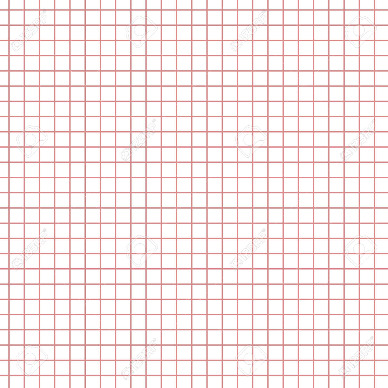 Math Paper With Red Squares Texture Background. Sheet Of Exercise ...