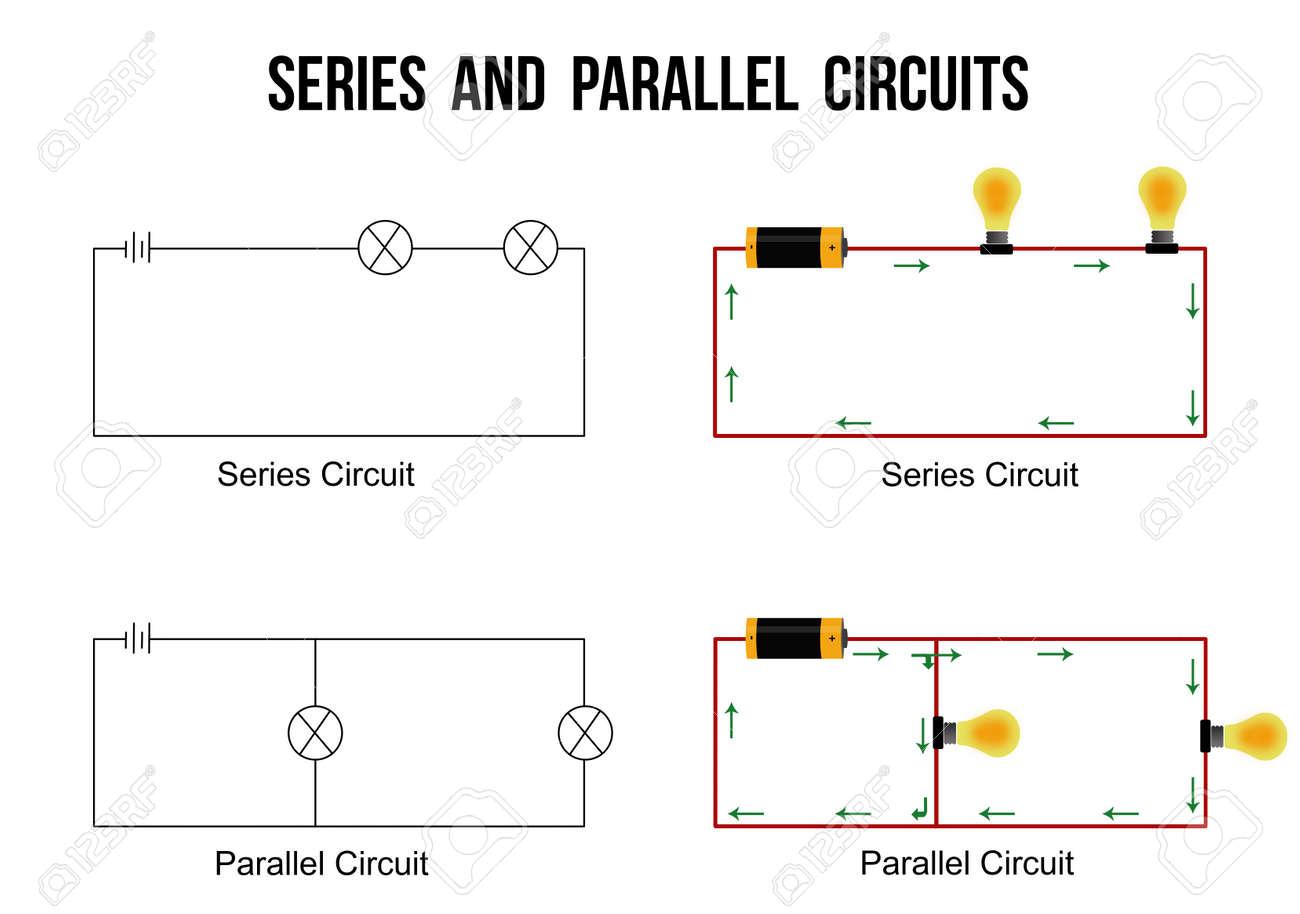Circuito Paralelo : Circuitos en serie y paralelos sobre fondo blanco de gran ayuda