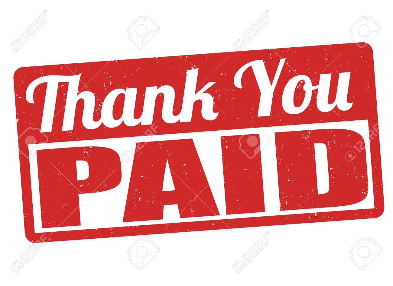 Image result for thank you paid clipart
