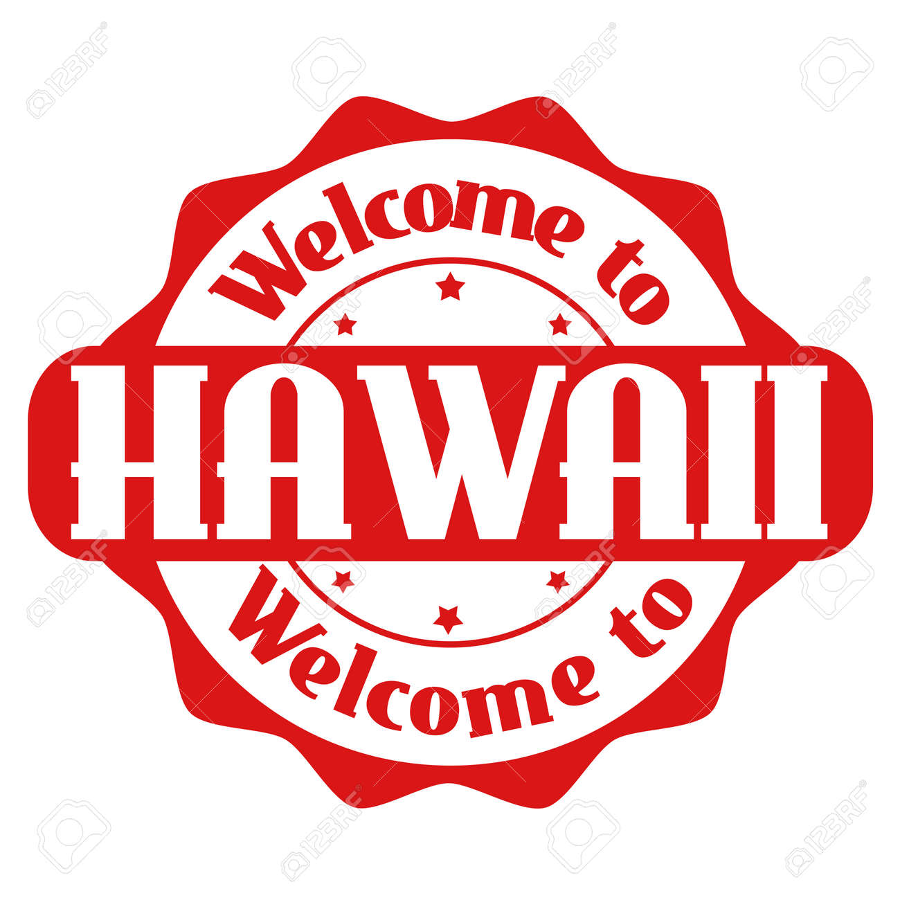 Welcome To Hawaii Grunge Rubber Stamp On White Background Vector