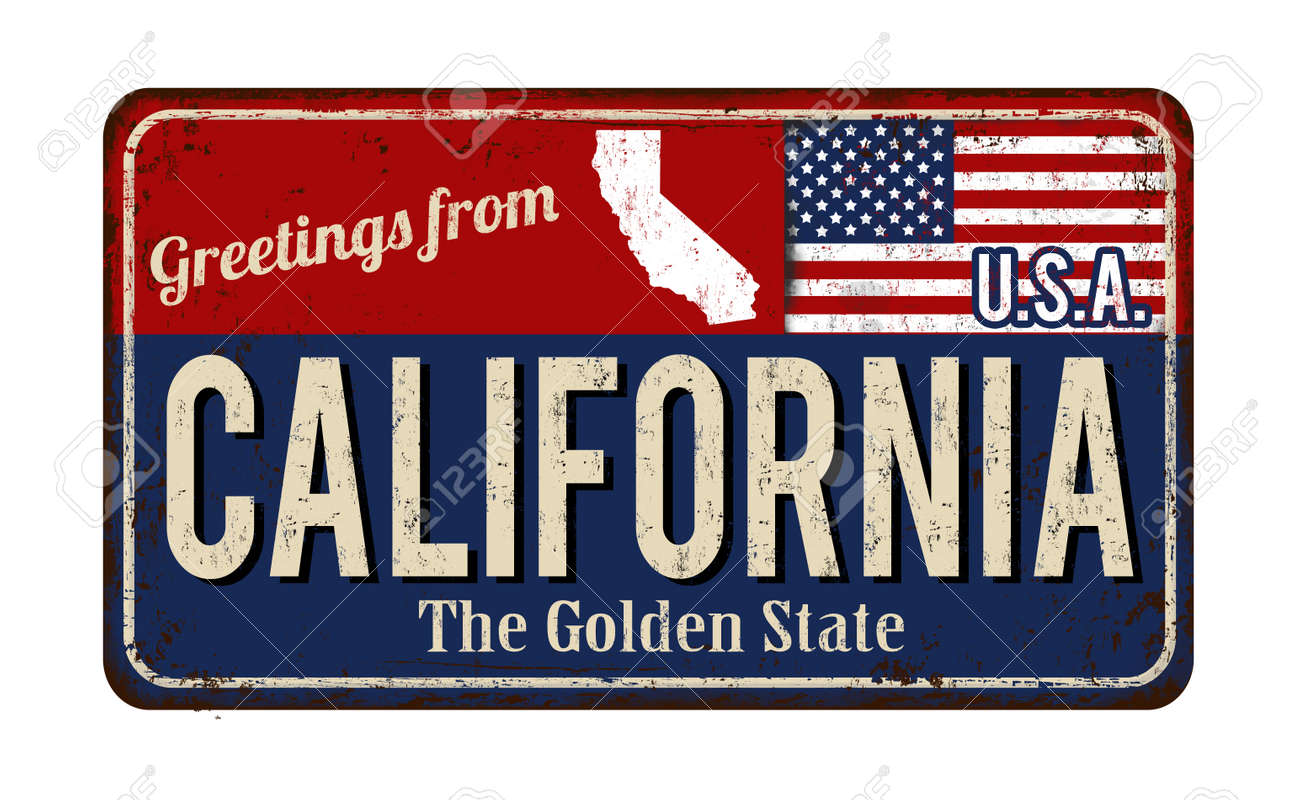 Greetings from california vintage rusty metal sign on a white greetings from california vintage rusty metal sign on a white background vector illustration stock vector m4hsunfo