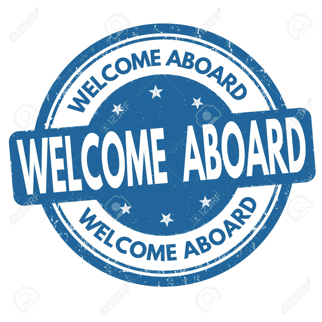 Welcome Aboard Sign Or Stamp On White Background Vector